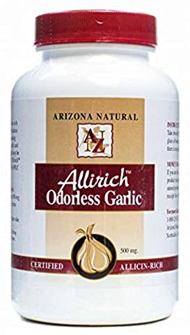 Arizona Natural Products Allirich Garlic, 90 Caps, 500 Mg