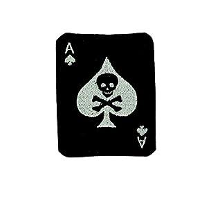 Patch AS de pic ace of spaldes airsoft biker militaire armée skull ecusson