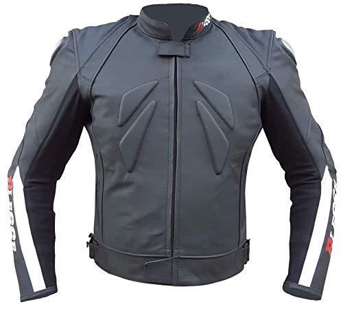 divisibile in 2 pezzi giacca e pantalone completa di protezioni CE Colore Nero Tuta da MOTO per adulto in pelle e tessuto BIESSE nero, XS regolabile