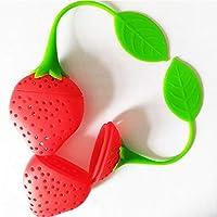 Macxy - Silikon Erdbeerentwurf lose Teeblatt Sieb Kräutergewürzfilter Filter-Tools [4pc] preisvergleich bei billige-tabletten.eu