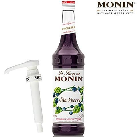 Monin Coffee Syrup in Blackberry 70cl Glass Bottle & 70cl Pump Set