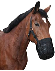 Kerbl Cheval Muselière en Nylon pour Cheval de Selle Noir