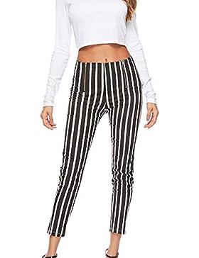 5b58ae44544973 Le Donne Autunno Pantaloni Di Plaid Occasionale In Forma Chiusa E Slim  Caviglia Pantaloni