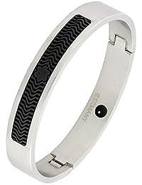 German Luxury Designer Silver Black 316L Surgical Stainless Steel Kada Bangle Bracelet For Men Rakhi Raksha Bandhan...