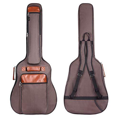 CAHAYA Gitarrentasche Akustikgitarren Taschen Gig Bag 40 41 42 Zoll wasserdichte Guitar Bag Braun 12MM Gepolsterte für Konzertgitarren (Aktualisierungsversion)