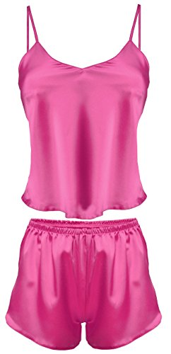 Lady-Mode Wäsche Set aus Satin Karen (XS - 2XL) Pink