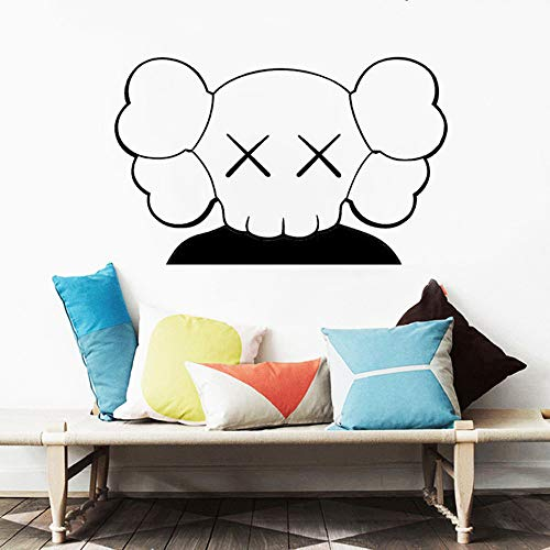 WWYJN Art Wall Stickers Children's Room Murals Home Decorations Living Room Vinyl Decals Anime Poster Bedroom Decoration White 119x57cm