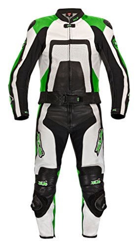 XLS Green Carbon Lederkombi in Kurzgröße 26 (52) schwarz grün