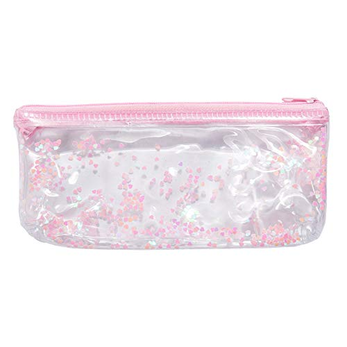 Sacchetto della penna del sacchetto di trucco della borsa di frizione della chiusura lampo di cristallo trasparente dello studente delle donne di modo YanHoo per makeup frequentare le lezioni