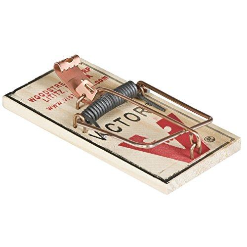 Victor M156 Holz-Schlagfalle für Mäuse im 4er Pack, 3,81 x 11,43 x 17,78 cm