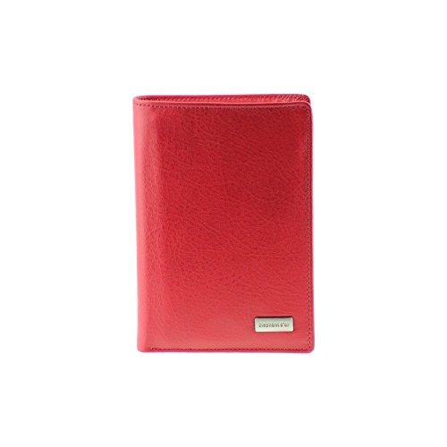 O.T. Elephant d'or - Best-Seller Portefeuille en cuir rouge N1176 Permis Cartes Documents - Rouge,...