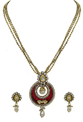Zaveri Pearls Gorgeous Pendant Set For Women - ZPFK4138  available at amazon for Rs.314