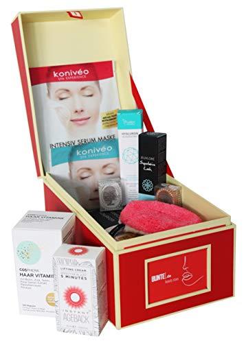 BUNTE.de Beauty Box gefüllt mit Luxusprodukten - Warenwert über 240€ - Limitiertes Geschenkset für Frauen - Nur Bestseller Beauty Produkte - Hochwertige Inhaltsstoffe - Empfehlung der Beauty Redaktion