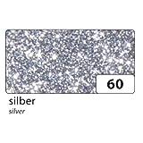 Folia Glitter Moosgummi, 2mm stark, 20x29cm, einseitig selbstklebend, 5 Bogen, silber