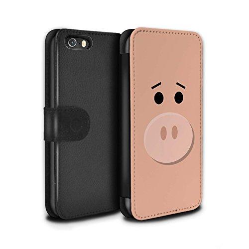 STUFF4 PU-Leder Hülle/Case/Tasche/Cover für Apple iPhone 5/5S / Hamm Schwein Inspiriert Muster / Süße Spielzeugfiguren Kollektion (5s I Story Fällen Toy Phone)
