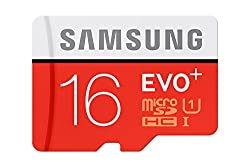 Samsung Evo+ MB-MC16DA/EU 16GB SDHC Memory Card (Red/White) with Adapter