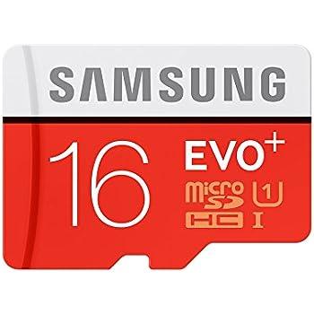 Samsung EVO Plus MB-MC16D Memoria Flash 16 GB MicroSD Clase 10 UHS-I - Tarjeta de Memoria (16 GB, MicroSD, Clase 10, UHS-I, 80 MB/s, Rojo, Blanco)