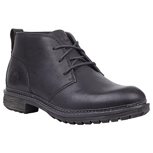 Timberland Men s Logan Bay Chukka Boot  Black Full Grain Leather  8 5 Medium US