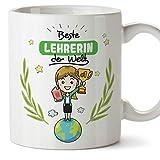(Tazza in Tedesco) Teacher Mug/Mug Gift Tazza da caffè Bella e Divertente - World's Best Teacher - Ceramic 350 ml