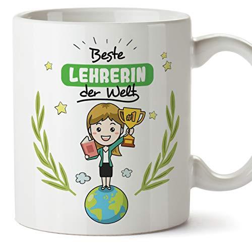 Lehrerin Tasse/Becher/Mug Geschenk Schöne and lustige kaffetasse - Beste Lehrerin der Welt - Keramik 350 ml -