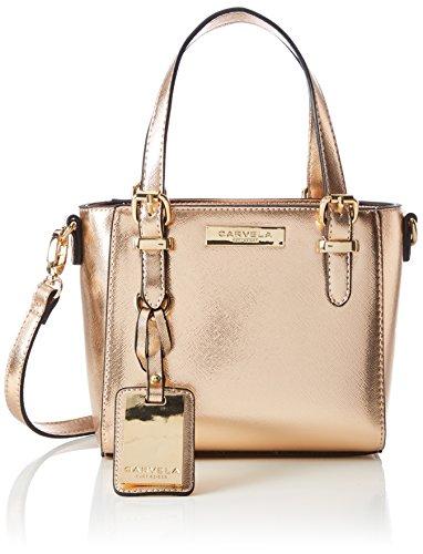 Carvela - Micro Din2 Bag, Borsa a tracolla Donna Gold (Gold Comb)