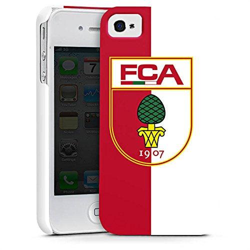 Apple iPhone X Silikon Hülle Case Schutzhülle FC Augsburg Fanartikel Bundesliga Premium Case glänzend