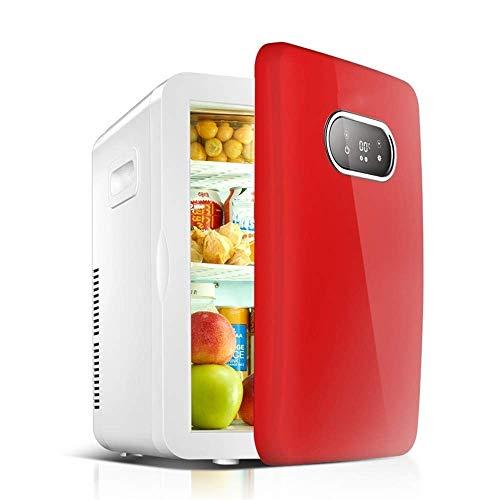 RUIMA Doppelspeicherwagen kleiner Kühlschrank 20L eintüriger Kühlschrank kleiner Schreibtisch (Color : Red) (Schreibtisch-kühlschrank)