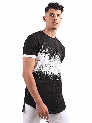 Tee shirt Tie and Dye homme Project X Paris - M, Blanc-Noir