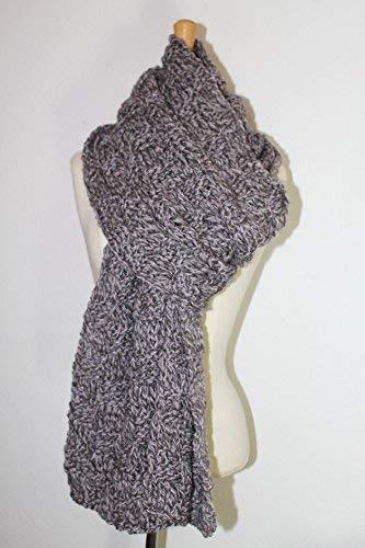 XL - Grobstrick-Schal mit Wolle & Alpaca -