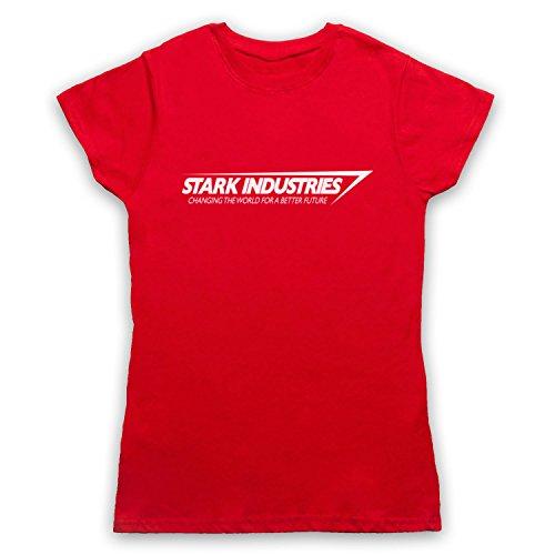 Inspiriert durch Iron Man Stark Industries Unofficial Damen T-Shirt Rot