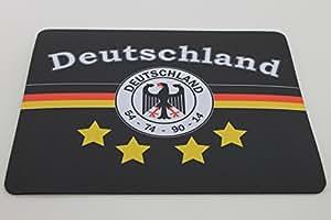 Deutschland 4-Sterne 54 – 74 – 90 – 14 Mousepad Fahne – Weltmeister – EM 2016