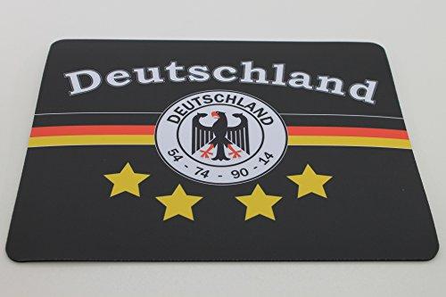Deutschland 4-Sterne 54 - 74 - 90 - 14 Mousepad Fahne - Weltmeister - EM 2016