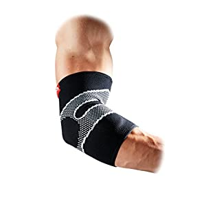 Mcdavid 5130 Elbow Sleeve 4 way elastic with Gel buttresses Black - Small