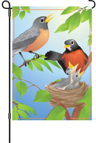 Premier Kites 51785Garten Brilliance Flagge, die Rotkehlchen Familie, 12von - Robin Rotkehlchen Kostüm