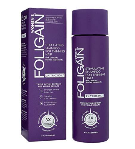 Foligain Shampoo Ricrescita Donna | Trioxidil 2% | Combatte la Calvizie e Rinforza il Cuoio Capelluto | Senza Parabeni e Solfati | Confezione Da 236ml