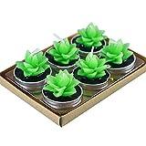 Wicemoon 6pcs Velas, Diseño Decorativo Con Forma de Cactus Y Estilo Romántico Para La Fiesta de Cumpleaños 4cm * 3.5cm