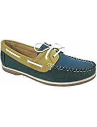 09ddc71539f Ladies Coolers Faux Nubuck Leather Loafer Lace Up Boat Deck Shoes