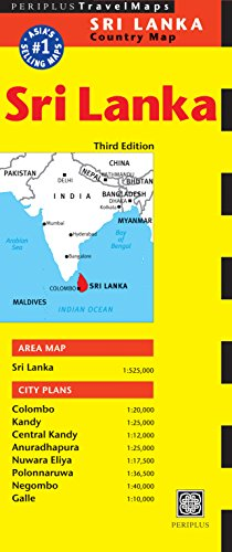 Sri Lanka Travel Map (Periplus Travel Maps)