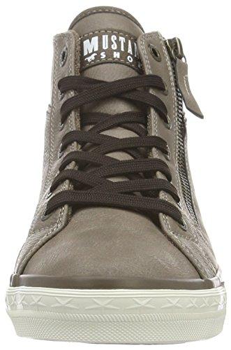 Mustang 1209-502-308, Sneaker a Collo Alto Donna Marrone (Erde)