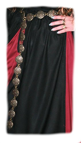 Dark Dreams Gothic Mittelalter LARP Y Elben-Gürtel Little Shell in messing, Länge:130 cm - 3
