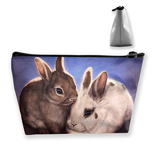 Bunny Kiss Travel Toiletry Bag Stylish Cosmetic Bag Storage Bag Large Accessories Organizer (Bunny Coin Bank)