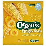Organix Finger Foods Organic Crunchy Sweetcorn Rings 20g Case of 8