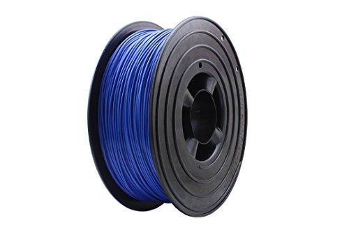3D Filament 1kg B-Ware Filament Rolle in verschiedenen Farben Rot Gold Silber Grün Blau Braun Lila Violett Beige Transparent Gelb Orange Schwarz Weiß (Blau (B-Ware))