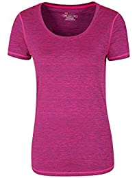 Mountain Warehouse Panna Womens T-Shirt - Quick Dry Ladies Tee, Breathable, Lightweight Summer Tee Shirt, Comfortable, Easy Pack - for Spring Walking, Hiking & Travelling