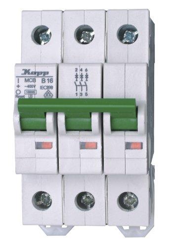 Ge Electric Circuit Breaker (Kopp 721630005 Green Electric Leitungsschutzschalter (MCB) 3-polig, 16 A)