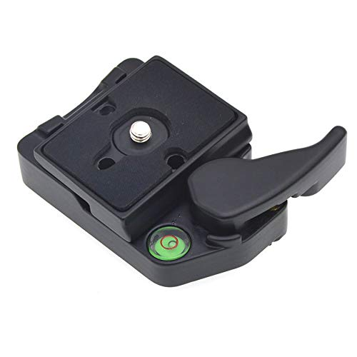 Yaoaoden Quick Release Adapter Camera Qr Clamp Manfrotto Tripod 200Pl-14 DSLR 323 Quick Release Sliding Plate Bubble Camera Clamp Adapter