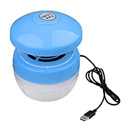Blue : MagiDeal USB LED Ultraviolet Zapper Light Fly Bug Pest Mosquito Repelling Lamp - Blue, 130x150mm