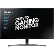 "'Samsung c32hg70 Monitor gaming curvado va 32 ""WQHD, 2560 x 1440, HDR, 144 Hz, 1 ms, 1 Display Port, 2 HDMI, 16,7 M de colores, sRGB 125%, freesync, Game Mode, Quantum Dot, Negro"