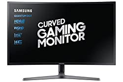 Samsung LC32HG70QQUXEN 32-Inch Curved WQHD Gaming Monitor - Dark Blue/Matt Black