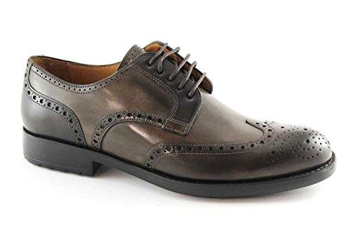 MELLUSO U81120 chaussures brun chocolat homme derby élégant embout en cuir anglais Marron
